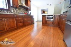 Mocha Fossilized® - Lightly Carbonized Bamboo Flooring - Cali Bamboo