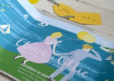 Claire & Ollie: Vintage English Riviera — Dearly Beloved, Wedding invitations, stationery & design