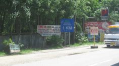 Kalibo Airport to Caticlan jettyport directional signage.