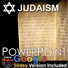 Judaism PowerPoint/Google Slides with video clips and presenter notes is packed with maps, stunning visuals, and embedded video links, and presenter notes, everything you need to keep your students engaged.11 slide PowerPoint takes students to the birth of the oldest monotheistic religion in the wor... Teaching 5th Grade, Teaching Social Studies, Teaching History, Student Learning, History Lesson Plans, World History Lessons, World Religions, Judaism, Video Clip