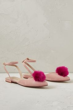 I NEED THESE!!!! Blushed Rose Pom Pom Sandals - anthropologie.eu