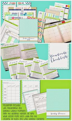 2014-2015 Editable Teacher Planner is here! Packed FULL of goodies including monthly calendar and notes pages, editable planner, communication log, birthday chart, intervention pages and more!