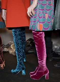 Yes to velvet boots.