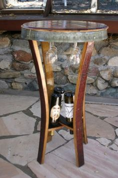 5 Hand Made Wine Stave Art And Furniture Products From California Barrel Crafts By Marv Kohlman