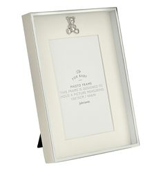 da31e294f97d Buy John Lewis Silver Plated Teddy Icon Photo Frame from our Photo Frames    Accessories range at John Lewis   Partners.