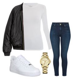"""""""Untitled #243"""" by kingrabia on Polyvore featuring Majestic, J Brand, NIKE and Tommy Hilfiger"""