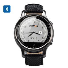 http://www.andnykstore.com/zgpax-s360-smart-watch-black-silver-gold.html ZGPAX S360 Smart Watch with 1.22 Inch Circular Screen, Sleep Monitor, Sedentary Reminder, Phone Sync and an App for IOS and Android. The sturdy metallic watch has a black finish and adopts the classical circular design that's we associate with watches. Sporting a leather style wrist band it not only feels well made and looks attractive but is also comfy to wear and won't chafe or irritate the skin like some…