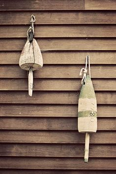 Lobster Buoys on Weathered Boathouse - Beach Cottage, Lakehouse, Travel Photography, Shabby Chic Dec Vintage Beach Decor, Seaside Decor, Beach Cottage Decor, Cozy Cottage, Beach Cafe, Nautical Home, Tropical Decor, Weathered Wood, Beach Cottages