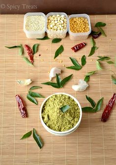 Curry Leaves Paruppu Podi With Sesame Seed & Garlic / Karuveppilai Paruppu Podi / Karuveppilai Podi Sadham Jar Recipes, Easy Baking Recipes, Diabetic Recipes, Lunch Recipes, Cooking Recipes, North Indian Recipes, South Indian Food, Indian Food Recipes