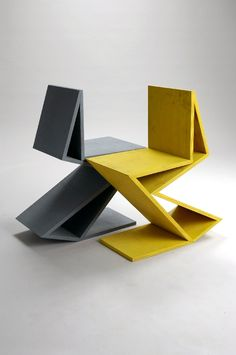 "Remix Gerrit Rietveld chair ""Zig Zag""  by Kateryna Sokolova"