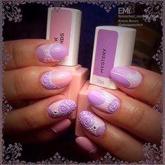 120 отметок «Нравится», 1 комментариев — E.Mi School Уфа (@emischool_ufa) в Instagram: «Для дизайна ногтей использовались: E.MiLac Пинк Сэндс №055 и Мистери №056 (Коллекция Park…»