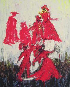 """""""Spanisch Dance"""". Acrylic on canvas, 2006 Dimensions: 100 x 80cm"""