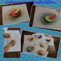 Kuş yuvası Origami Easy, Pre School, Art For Kids, Foundation, Birds, Prints, Blog, School, Ideas
