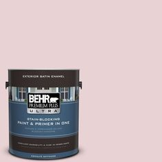 BEHR Premium Plus Ultra 1-gal. #S130-1 Beloved Pink Satin Enamel Exterior Paint