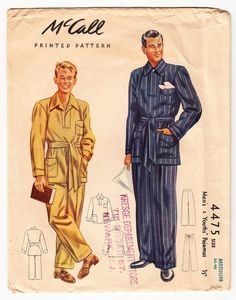 1941 Pyjamas McCalls 4475 Pattern Early Vintage
