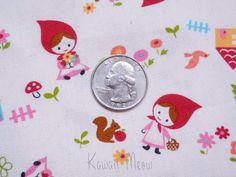 Kawaii Japanese Fabric - Little Red Riding Hood - 4 Fat Quarter Bundle Set (12no0929). $15.90, via Etsy.