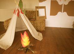 Tipi para fiesta Far West de indios y vaqueros