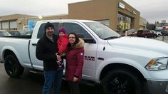 Chris, Jess and Aubrey with their new 2016 Ram 1500 Outdoorsman!! Congrats!!