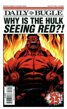 #Red #Hulk #Fan #Art. (Daily Bugle #016 Wednesday December 19 2007 Page 1 Cover) By: Ed McGuinness. ÅWESOMENESS!!!™ ÅÅÅ+