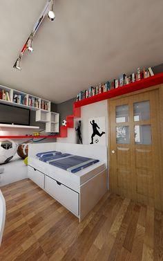 Pokój dwóch chłopców | AWX2 ARCHITEKCI Loft, Bed, Furniture, Home Decor, Decoration Home, Stream Bed, Room Decor, Lofts, Home Furnishings