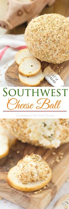 Southwest Cheese Ball Appetizer Wonderful southwest flavors in this cheese ball appetizer – whip up one today! Cheese Snacks, Cheese Ball Recipes, Cheese Appetizers, Finger Food Appetizers, Appetizer Dips, Dip Recipes, Cheesecake Recipes, Finger Foods, Snack Recipes