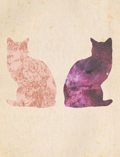 two cats by susie julie design.