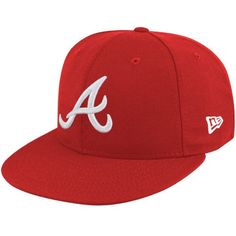 * Men's Atlanta Braves New Era Red League Basic Fitted Hat, Sale: $16.99 -  You Save: $17.00