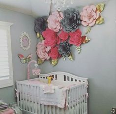 have to add more flowers to her nursery wall