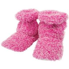 Pink Fluffy Hot Sox Slippers - Strawberry and Vanilla Scented