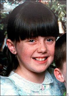 Amber Hagerman. 9 year old girl who was kidnapped, raped, and murdered in Texas in 1996. Her body was found but her murder remains unsolved. The AMBER alert was named after her.