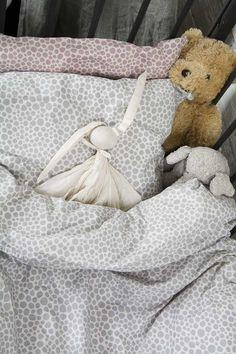 Byheritage- bedset grey, alloverprint