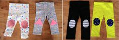 DIY Easy Patched Leggings!