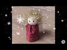 Engel basteln - Schutzengel - Weihnachtsengel - Weihnachtsschmuck - Weih... Christmas Angels, Handicraft, Christmas Decorations, How To Make, Guardian Angels, Christmas Jewelry, Craft, Arts And Crafts, Christmas Decor