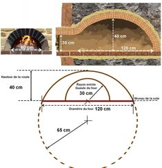 Construction of a wood oven in the garden with plans: - - Pizza Oven Fireplace, Brick Oven Pizza, Pizza Oven Outdoor, Wood Oven, Wood Fired Oven, Barbecue Four A Pizza, Oven Diy, Oven Design, Brick Bbq