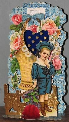80 best valuable valentines images on pinterest vintage cards sailor boy antique victorian valentine card 10 3d pop up fold down germany m4hsunfo