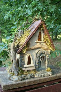 Carved Fairy  house