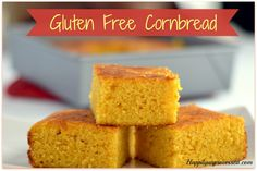 I enjoy this version of Gluten Free Cornbread better than the regular version. Cornmeal, only 2 Tablespoons of sugar, 2 eggs, sour cream, milk, honey and butter. Goes wonderful with chili crumbled on top !!