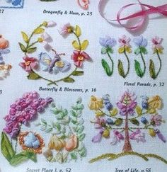 Silk Ribbon Embroidery Instructions | Huge Lot of Silk Ribbon Embroidery Patterns Books | eBay
