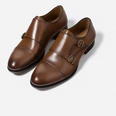 Image 2 of BUCKLED MONK LEATHER SHOES from Zara