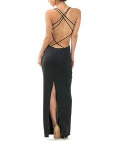 Look at this #zulilyfind! Black Strappy Maxi Dress #zulilyfinds