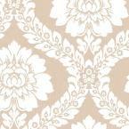 Daisy Damask Wallpaper, Brown