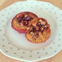 Geroosterde vanilleperzikken met noten