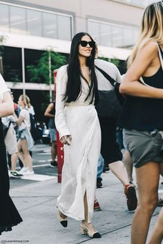 New_York_Fashion_Week-Spring_Summer-2016-Street-Style-Ralph_Lauren-Gilda_Ambrossio-Chanel_Shoes-Long_Dress-