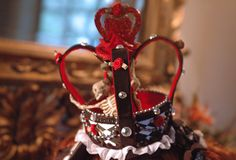 """Lolita crowns can be worn with ribbon, elastic, or clips. All crowns are flat bottomed within a 4"""" width base and vary in height.   *(wig and hair accessories not included)"""
