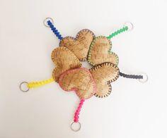 Keychain, cork gift, cork nature, portuguese gift, women keychais, valentines…