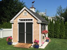 Pine Harbor creates high quality sheds and shed kits, New England-style barns and garages, and a variety of products for outdoor living. Shed Doors, Shed Kits, New England Style, She Sheds, Small Buildings, Shed Storage, Outdoor Living, Outdoor Structures, Wood
