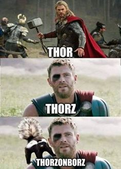 Minion Humor, Everything Funny, Grumpy Cat, Chris Hemsworth, Funny Cute, Karate, Marvel Dc, Thor, Picture Video