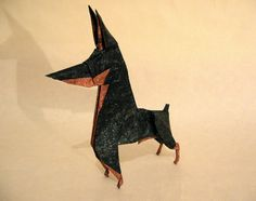 Designed by Ares Alanya. Folded from 45cm tissue foil.