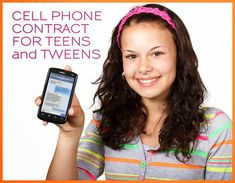Useful contract, tool, example with reasonable smartphone guidelines that teens, tweens and parents can agree upon for safe cell phone use.