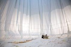 """Das """"Big Air Package"""" wird das größte aufblasbare Objekt aller Zeiten sein. Mit..."""